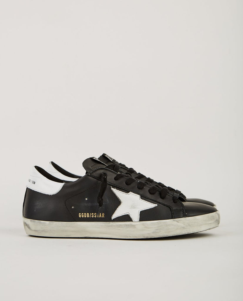 GOLDEN GOOSE DELUXE BRAND-SUPERSTAR SNEAKER BLACK & WHITE-Men Sneakers + Trainers-{option1]