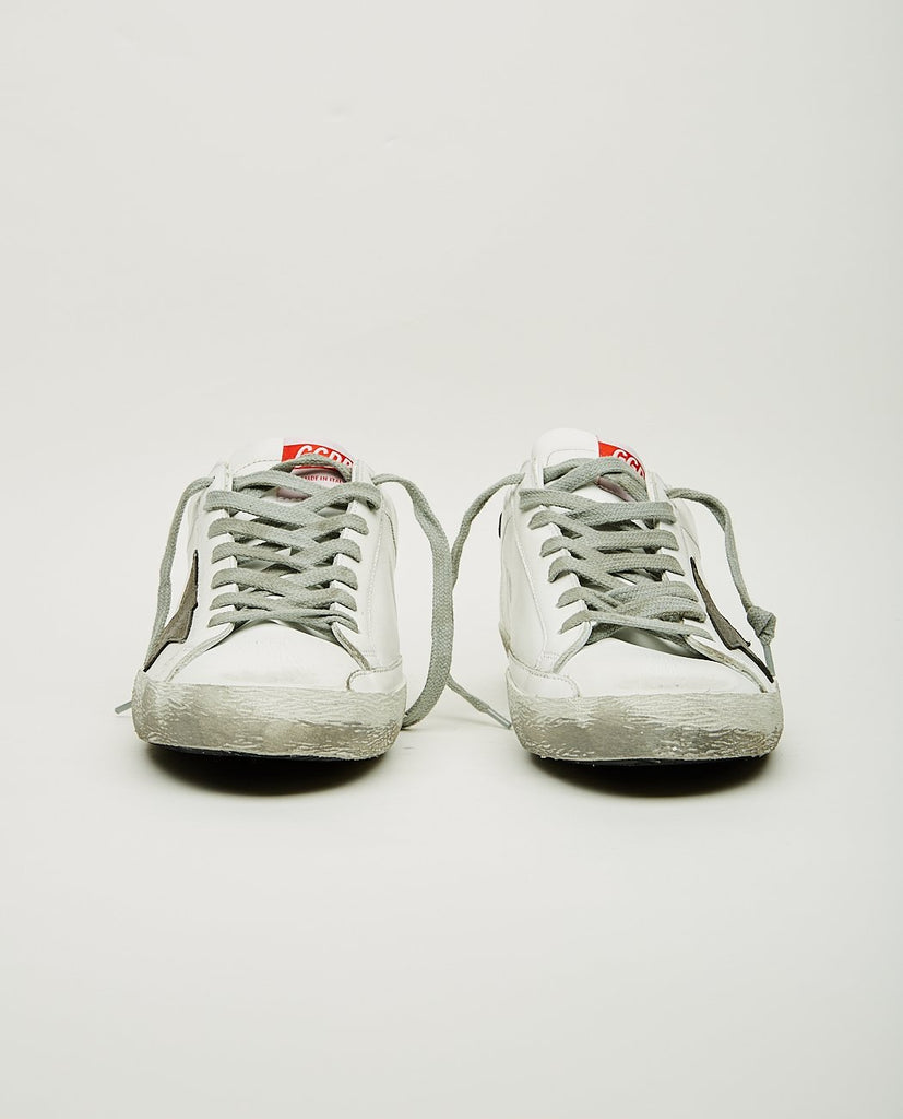 GOLDEN GOOSE-SUPERSTAR WHITE & GREY-Men Sneakers + Trainers-{option1]