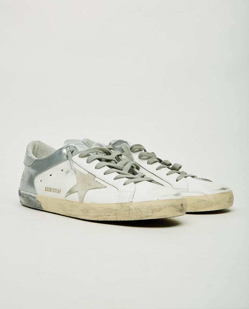 GOLDEN GOOSE-Superstar White & Silver-Men Sneakers + Trainers-{option1]