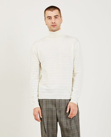DROLE DE MONSIEUR Turtleneck Top Light Blue