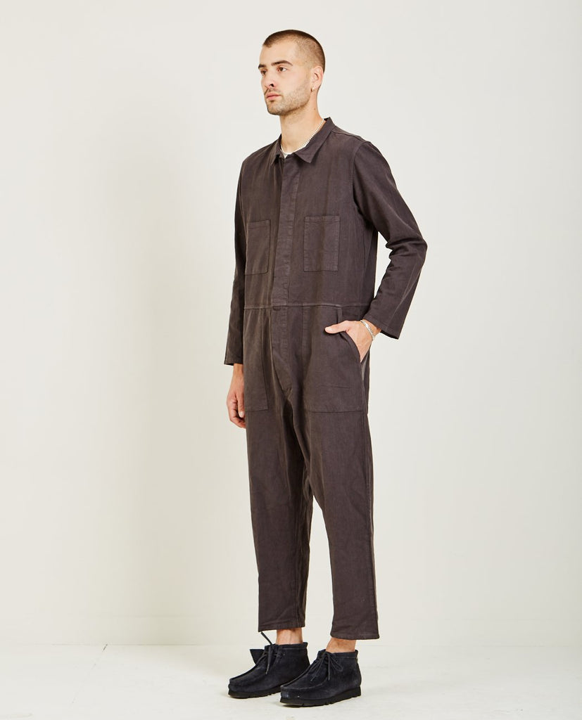 T-823 COVERALL FADED BLACK-PROSPECTIVE FLOW-American Rag Cie