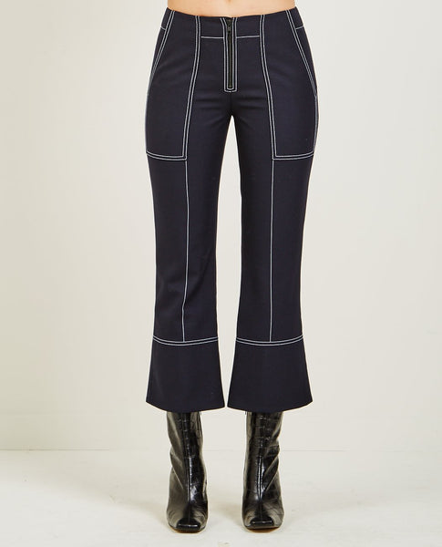 KENZO TAILORED CROPPED PANT