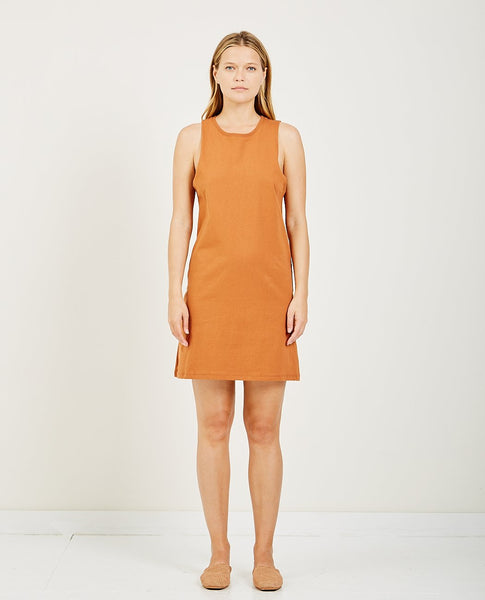 RICHER POORER TANK DRESS TOBACCO