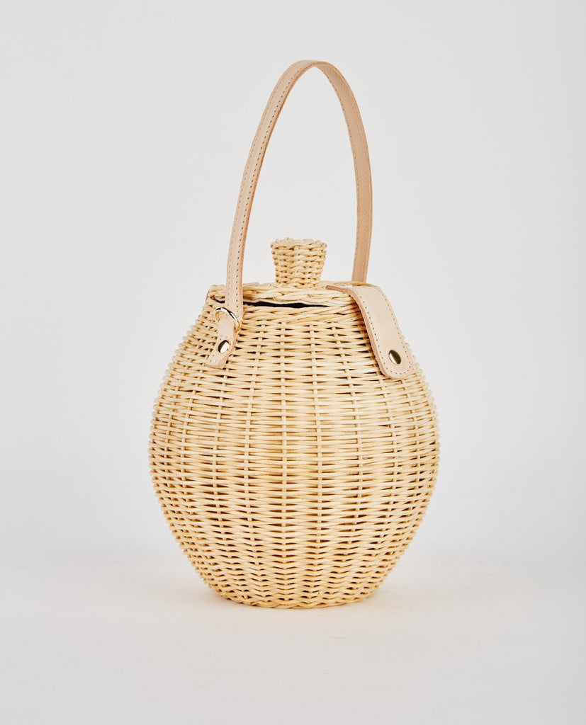 ULLA JOHNSON-TAUTOU HAND WOVEN BASKET NATURAL-Women Bags + Wallets-{option1]