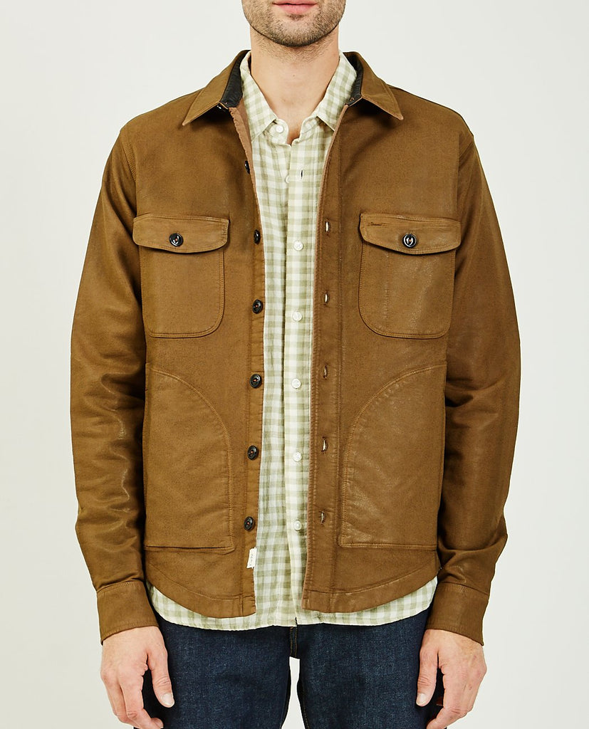 The Anvil Shirt Jacket Brown Coating Double Weave-KATO-American Rag Cie