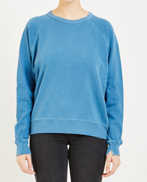 THE GREAT THE COLLEGE SWEATSHIRT MECHANIC BLUE