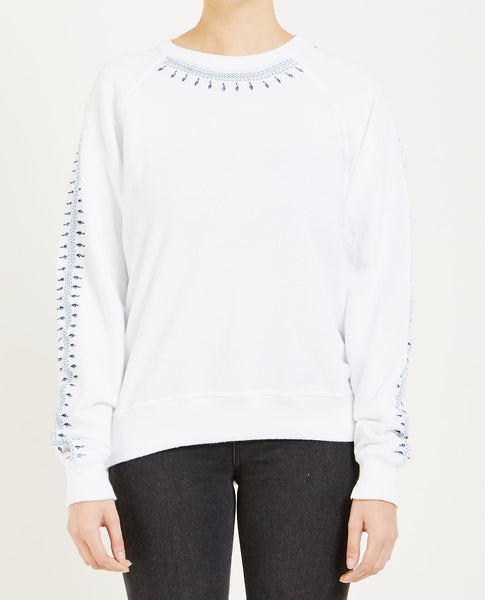 THE GREAT THE COLLEGE SWEATSHIRT WHITE