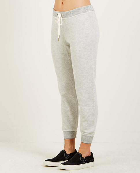 THE GREAT THE CROPPED SWEATPANT HEATHER GREY