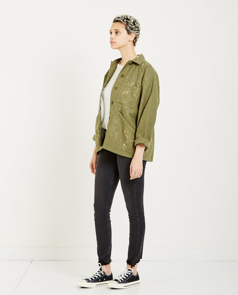 THE GREAT-THE FIELD JACKET BEAT UP ARMY-Women Coats + Jackets-{option1]