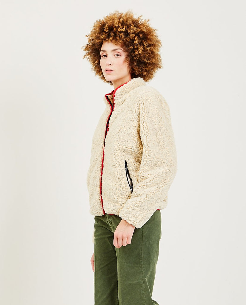 The Funnel Neck Zip Jacket-MOTHER-American Rag Cie