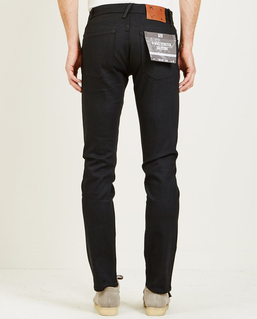 THE PEN SLIM JEAN RAW BLACK-KATO-American Rag Cie