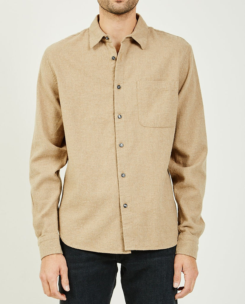 KATO-The Ripper Beige Chambray Viyella-Men Shirts-{option1]