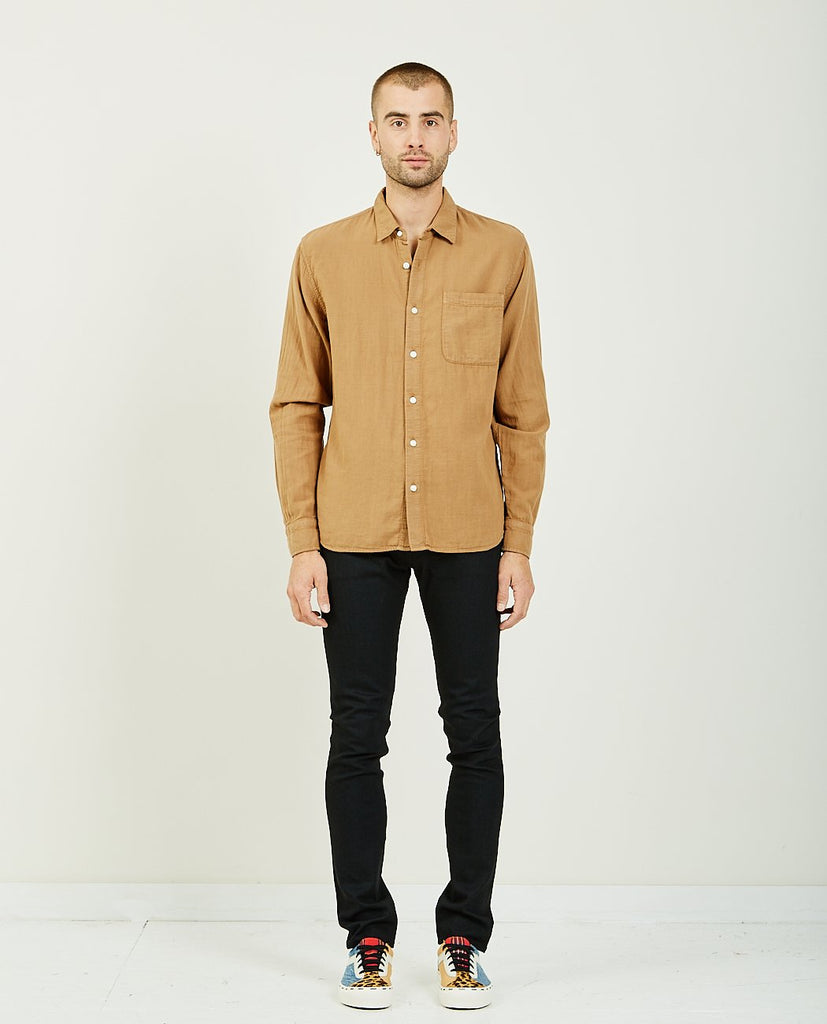 KATO-The Ripper Camel Vintage Double Gauze Shirt-Men Shirts-{option1]