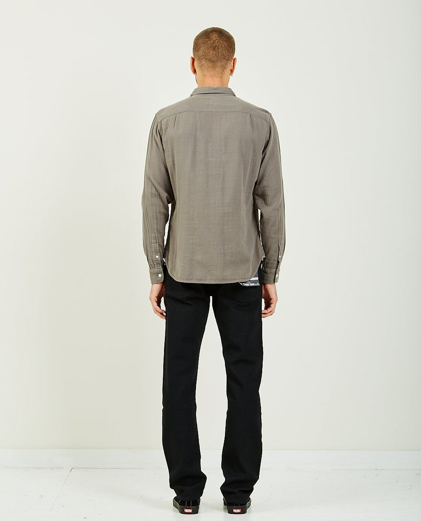 KATO-The Ripper Charcoal Vintage Double Gauze-Men Shirts-{option1]