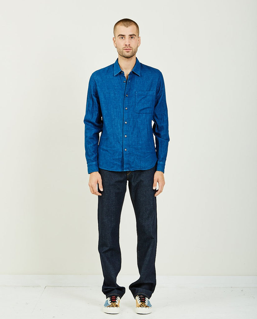 KATO-THE RIPPER INDIGO VINTAGE DOUBLE GAUZE-Men Shirts-{option1]