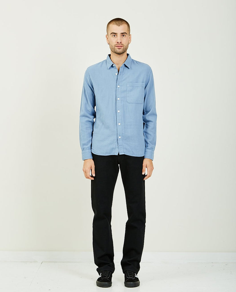 KATO-THE RIPPER MATTE BLUE VINTAGE DOUBLE GAUZE-Men Shirts-{option1]