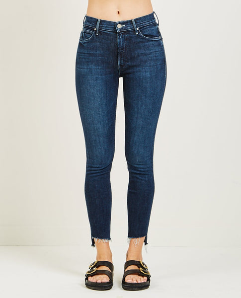 MOTHER THE STUNNER ANKLE STEP FRAY JEAN DISCO DOLL