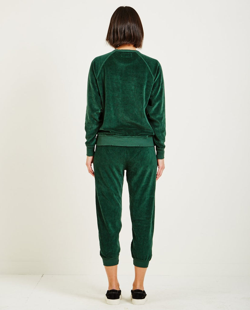 THE GREAT-THE VELOUR COLLEGE SWEATSHIRT-Women Sweaters + Sweatshirts-{option1]