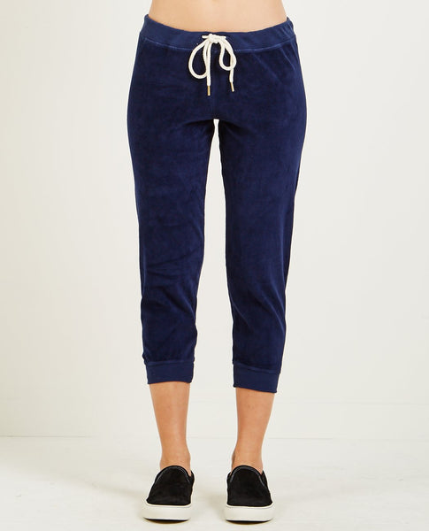 THE GREAT THE VELOUR CROPPED SWEATPANT