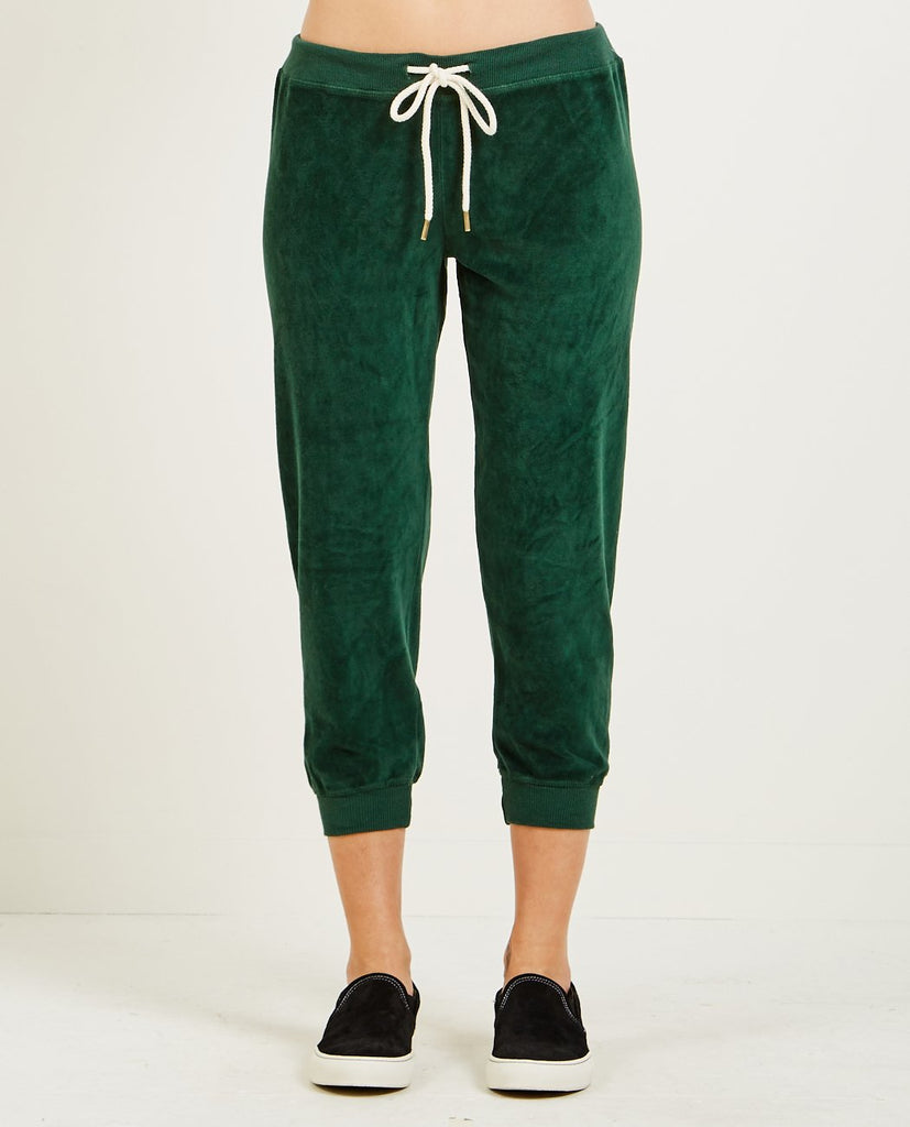THE GREAT-THE VELOUR CROPPED SWEATPANT-Women Pants-{option1]