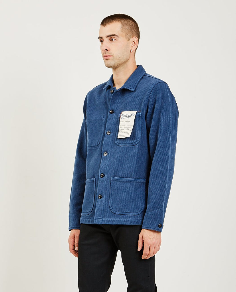 KATO-The Vice Chore Jacket Blue-Men Coats + Jackets-{option1]