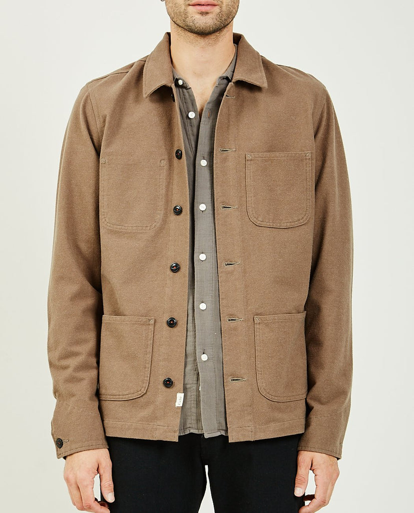 THE VISE CHORE JACKET CAMEL-KATO-American Rag Cie