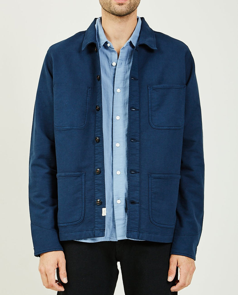 KATO-THE VISE CHORE JACKET NAVY-Men Coats + Jackets-{option1]