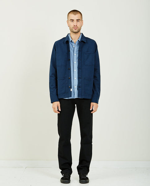 KATO THE VISE CHORE JACKET NAVY
