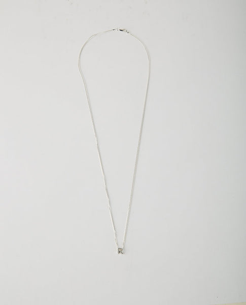 WWW. WILL SHOTT THIN NECKLACE WITH LETTER