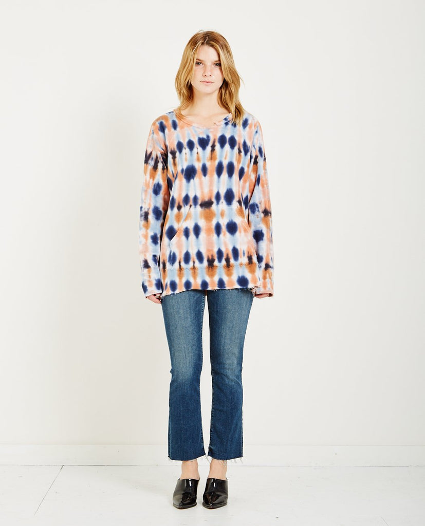 RAQUEL ALLEGRA TIE-DYE FRENCH TERRY SWEATSHRT