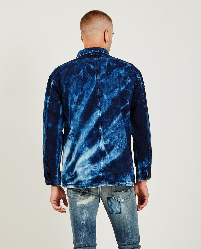 FDMTL-Tie Dye Shibori Coverall Indigo-Men Coats + Jackets-{option1]