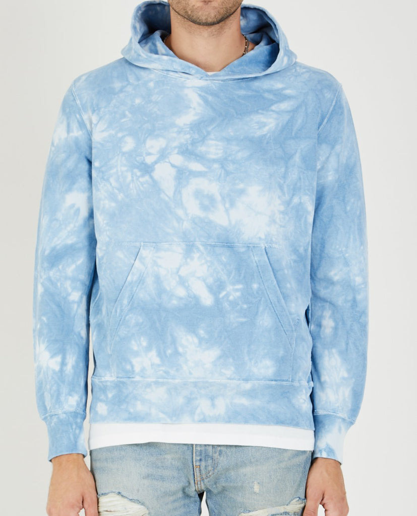TIE-DYE SPECIAL FINISH FLEECE HOODIE-REMI RELIEF-American Rag Cie