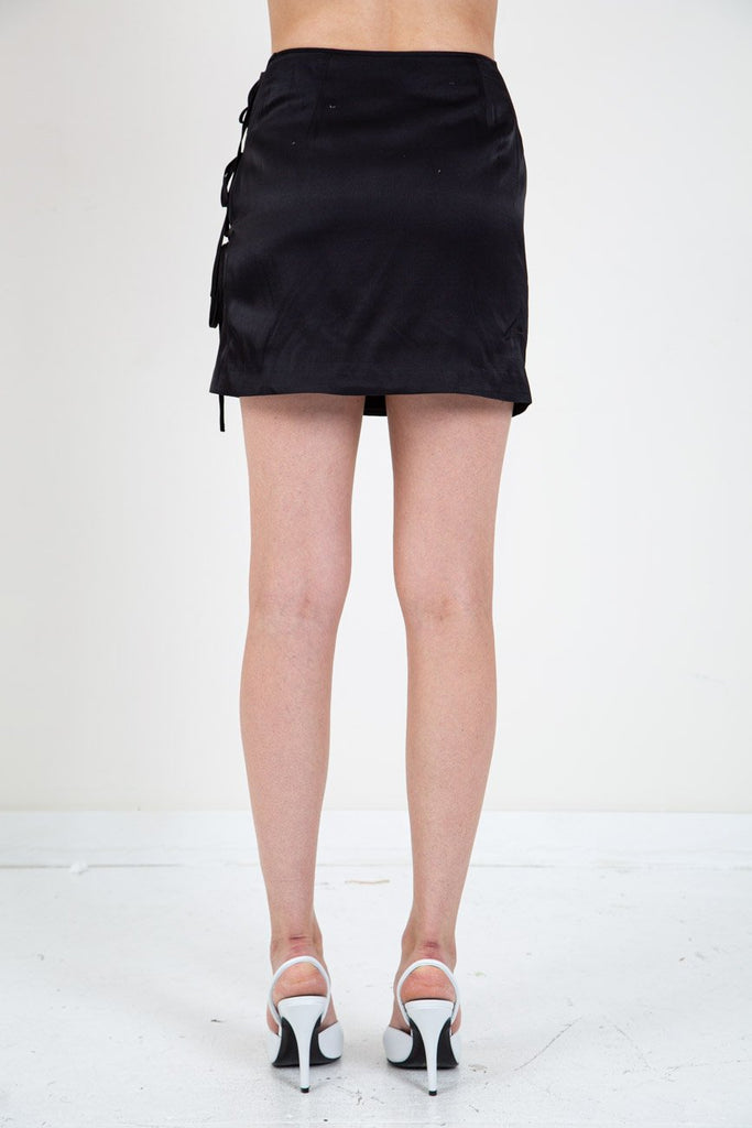 TIE WRAP MINI SKIRT-OPENING CEREMONY-American Rag Cie