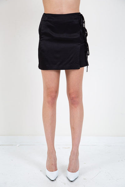OPENING CEREMONY TIE WRAP MINI SKIRT