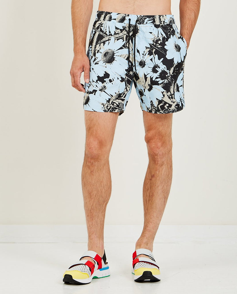 SATURDAYS NYC-Timothy Daisy Print Swim Short-Men Shorts-{option1]