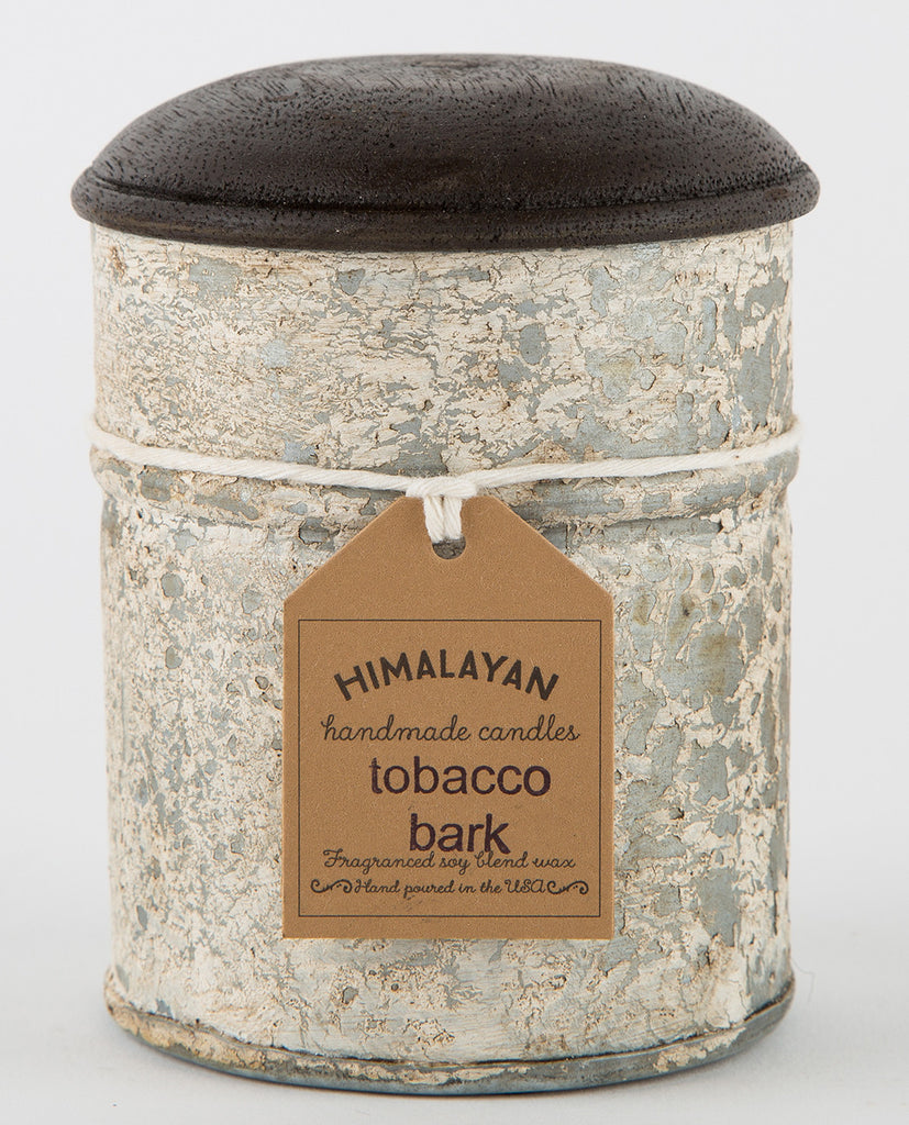 TOBACCO & BARK SPICE TIN CANDLE-HIMALAYAN TRADING POST-American Rag Cie