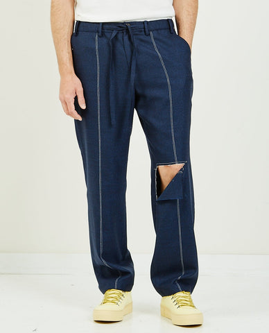 SK MANOR HILL Nest Pant Black Puckered