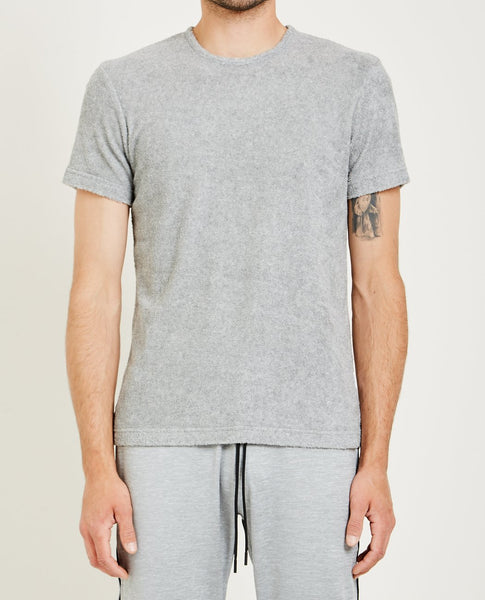 REIGNING CHAMP TOWEL TERRY SHORT SLEEVE CREWNECK