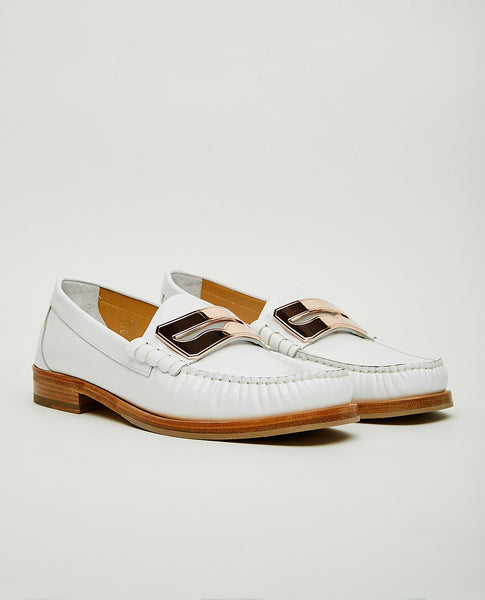 BUSCEMI TOWN LOAFER WHITE