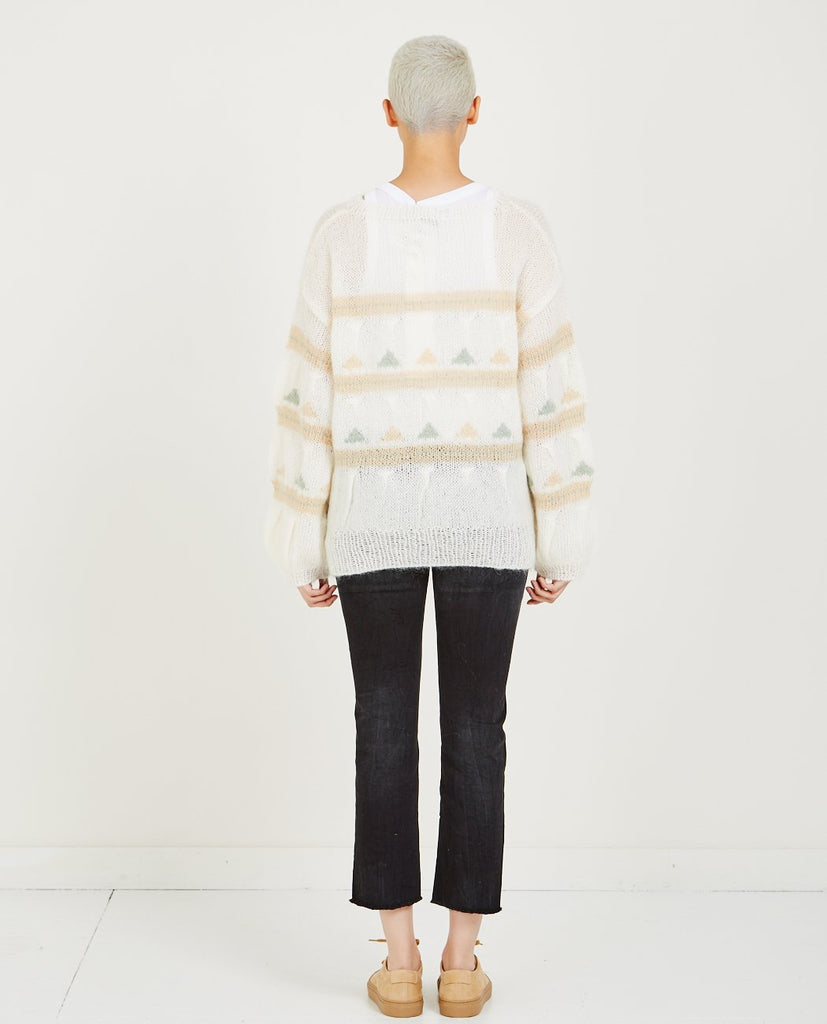 TRIANGLE INTARSIA KNIT SWEATER-CLOSED-American Rag Cie