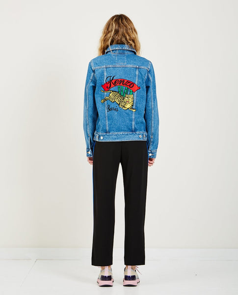 KENZO TRUCKER DENIM JACKET BAMBOO TIGER