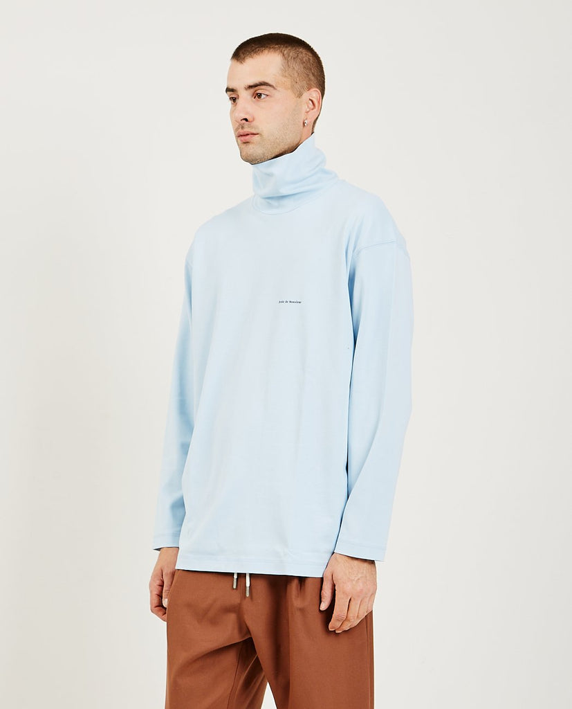 Turtleneck Top Light Blue-DROLE DE MONSIEUR-American Rag Cie