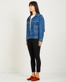 LEVI'S: MADE & CRAFTED-TYPE II TRUCKER JACKET LOVE LETTER-Women Coats + Jackets-{option1]