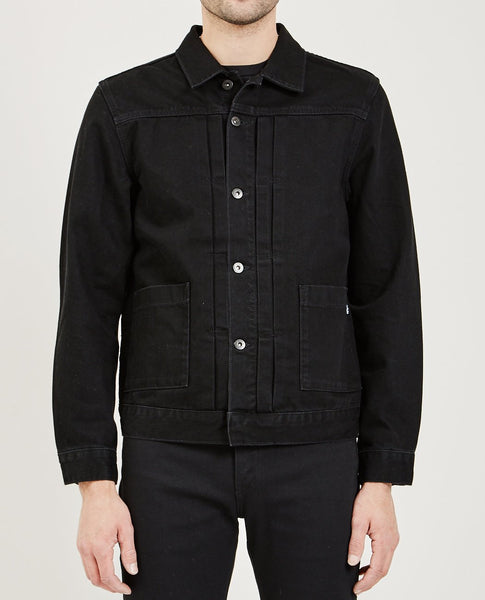 LEVI'S: MADE & CRAFTED Type II Worn Trucker Nero Nero