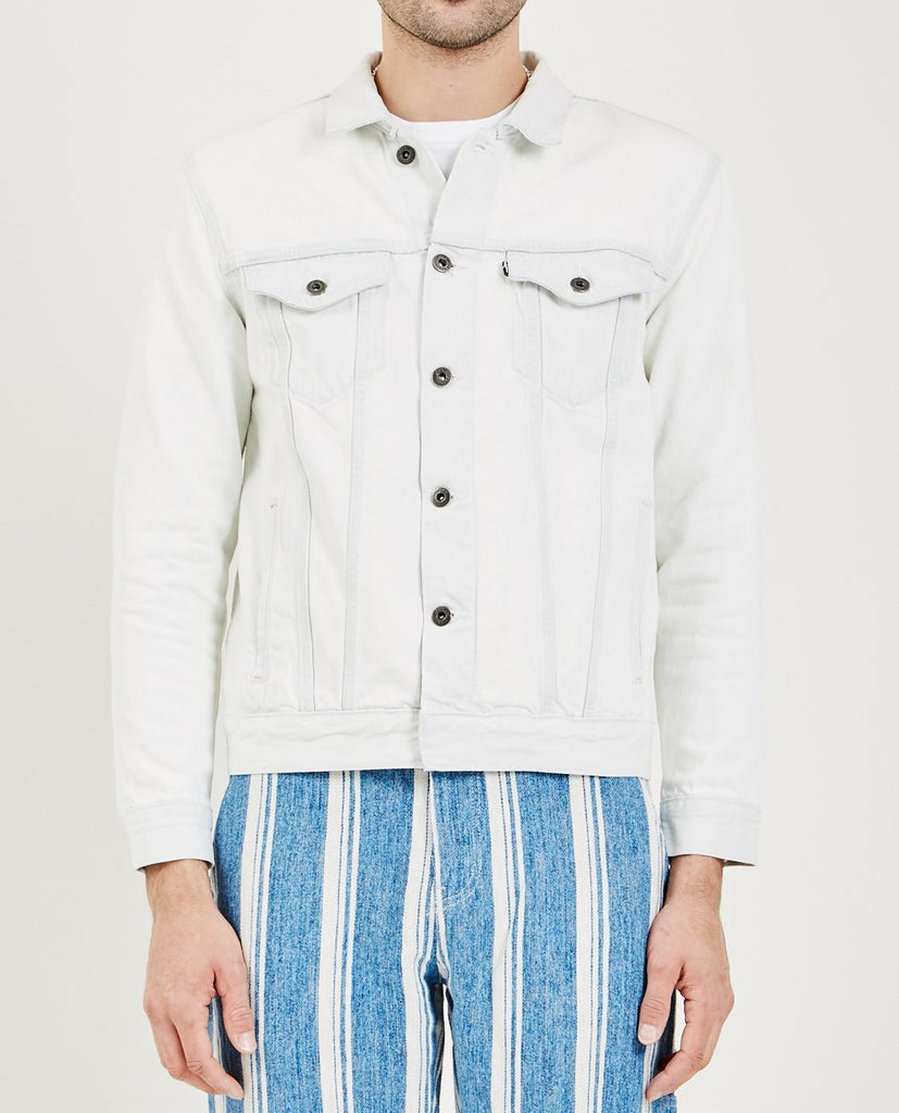 LEVI'S: MADE & CRAFTED-TYPE III TRUCKER JACKET WHITE OUT-Men Coats + Jackets-{option1]