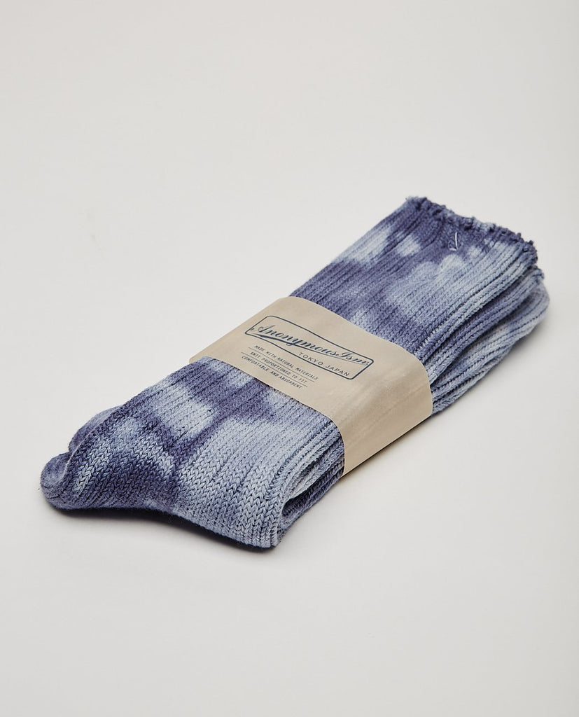 UNEVEN DYE CREW SOCK-ANONYMOUS ISM-American Rag Cie