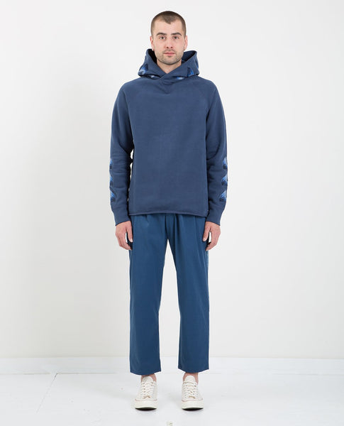 LEVI'S: MADE & CRAFTED UNHEMMED HOODIE MOONLIGHT BLUE