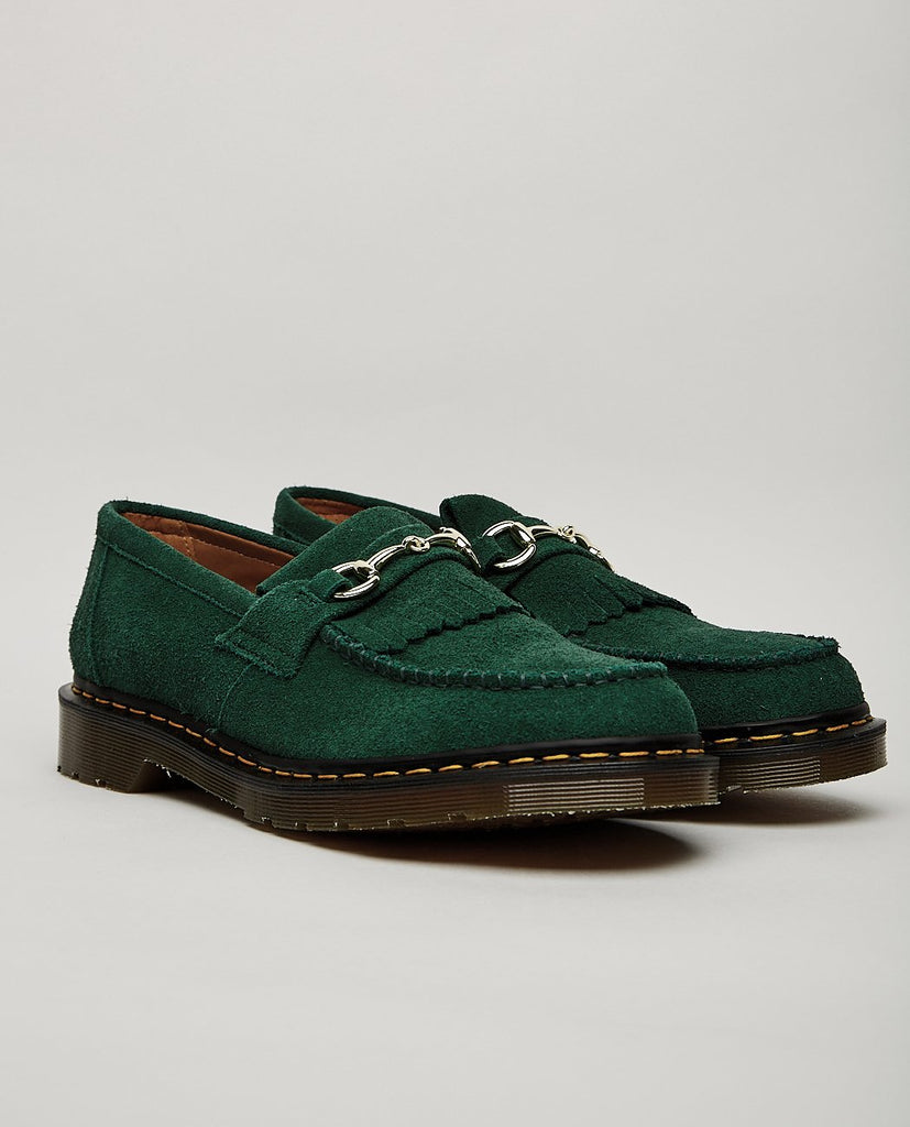 DR. MARTENS-UNITED ARROWS SNAFFLE SUEDE LOAFER BOTTLE GREEN-Men Dress-{option1]