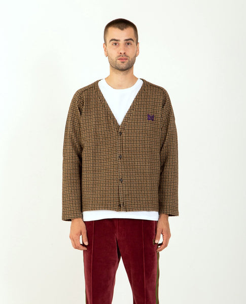 NEEDLES V Neck Cardigan Gunclub Jacquard
