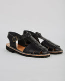 STEVE MONO-VEGETABLE TANNED CALFSKIN GLUCA SANDAL-Women Sandals-{option1]